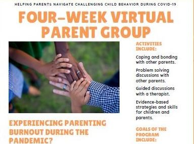 Virtual Parent Group flyer