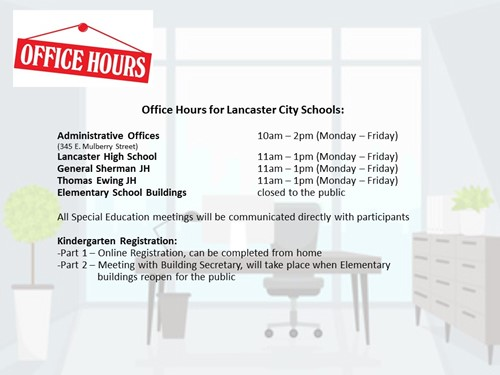 Adjusted Office Hours