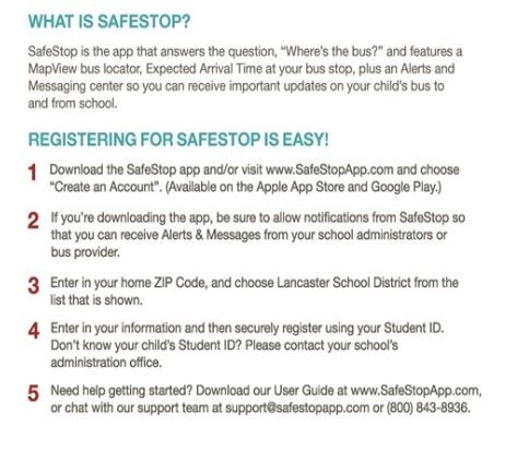 SafeStop instructions