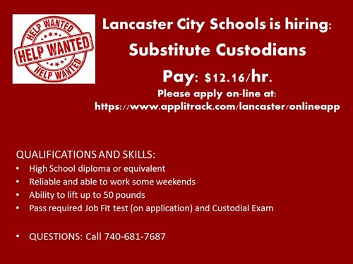 Job Offer - Substitute Custodians