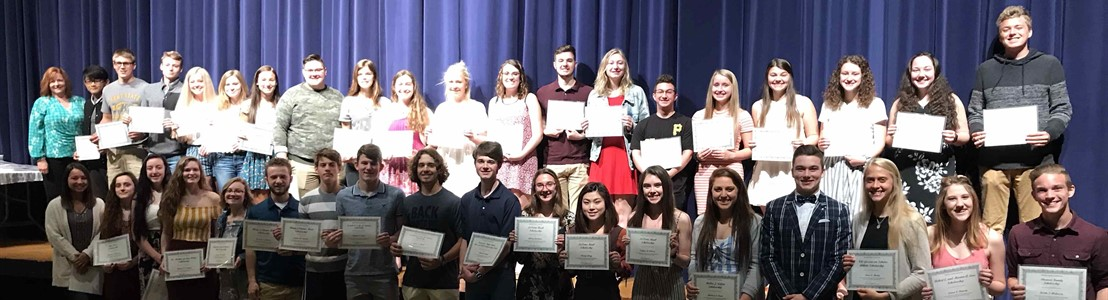 LHS - These 37 seniors from LHS were awarded scholarships from the Fairfield County Foundation (2019)