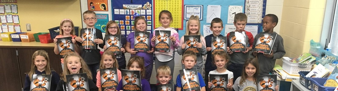 Mt. Pleasant - Mrs. Dickson's class received another book donation (Oct. 2019)