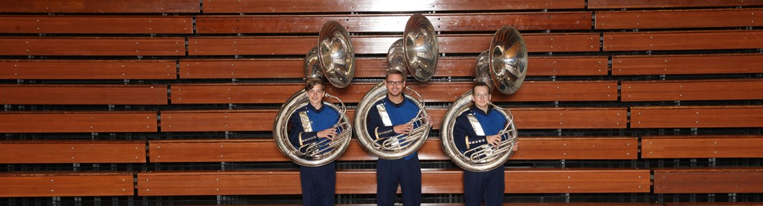 LHS Band of Gold Tuba section - 2019