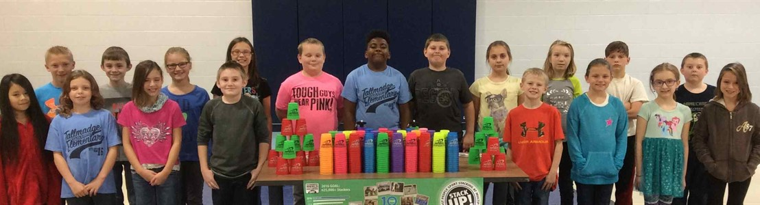 Five of Mr. Shupp's Physical Education classes participated in the WSSA Stack Up event at Tallmadge Elementary on Nov. 17th, 2016 to help set a new Guinness World Record for the most people sport stacking at multiple locations in one day!