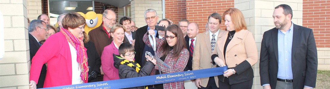 Ribbon Cutting at New Medill Elementary 1.4.17