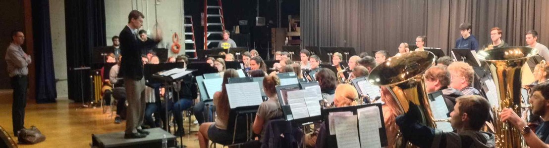 LHS Symphonic Band at rehearsal w/composer Andrew Boysen, Jr.