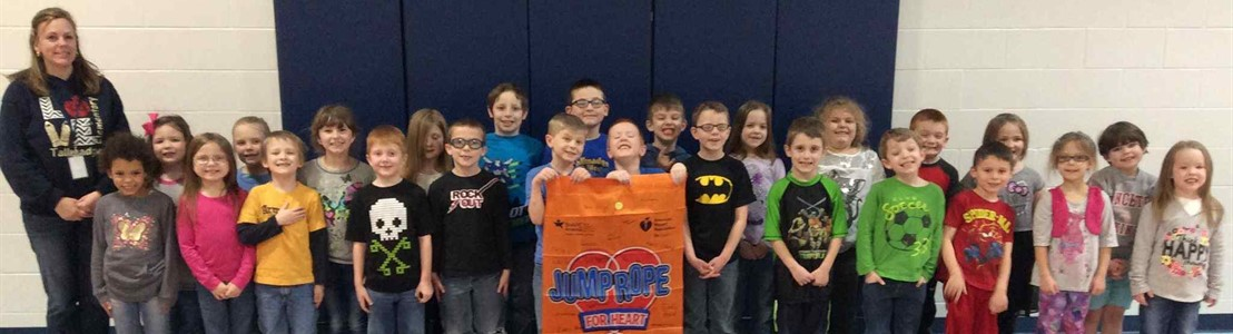Tallmadge/Mrs. Jarrett's Class - Jump Rope For Heart winners