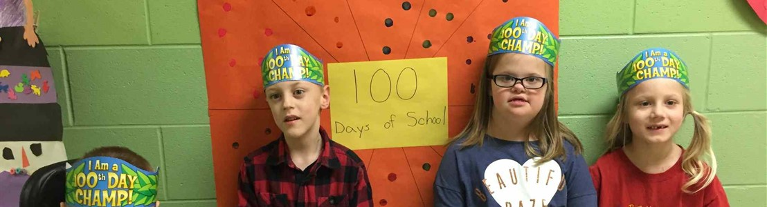 Gorsuch West - Mrs. Kallenberg's students celebrating 100th Day