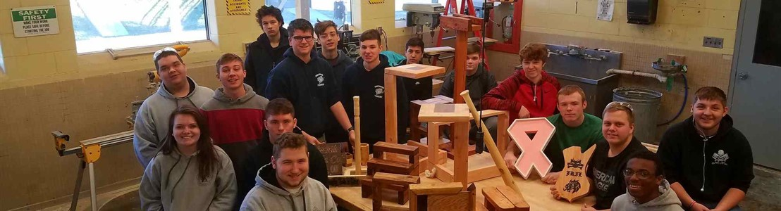 "LHS Carpentry and Construction Trades classes 2""x4"" challenge."