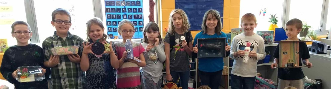 Tallmadge, Ms. Nelson's class - recycled art