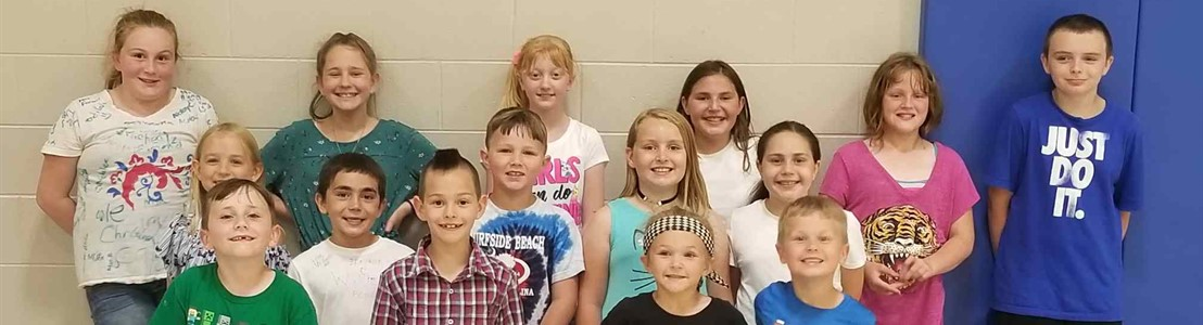 Gorsuch West ES - Perfect Attendance students