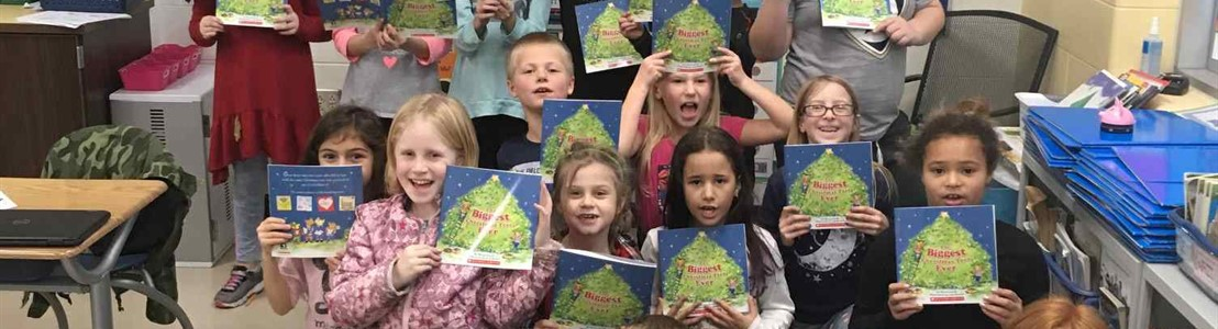 Mt. Pleasant - Mrs. Dickson's class received another book donation (Dec. 2018)