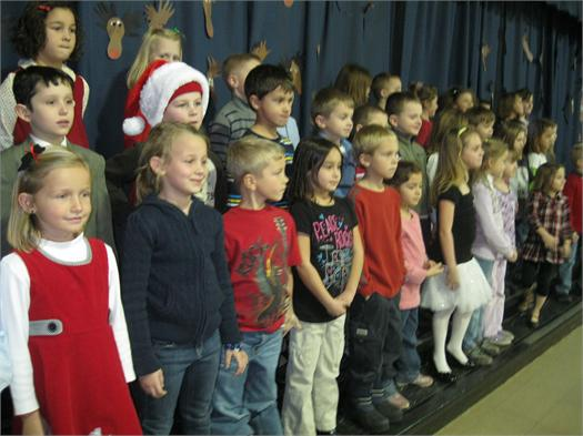 "Medill First Graders presented ""The Gingerbread Kid Caper"" on Tuesday December 14, 2010. We hope you enjoy these pictures. Have a wonderful Holiday Season."