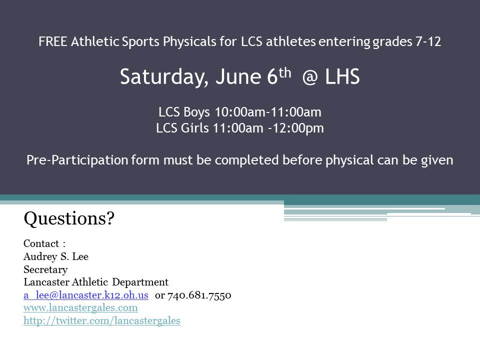 Fmc Offering Free Sports Physicals For Students Grades  In June