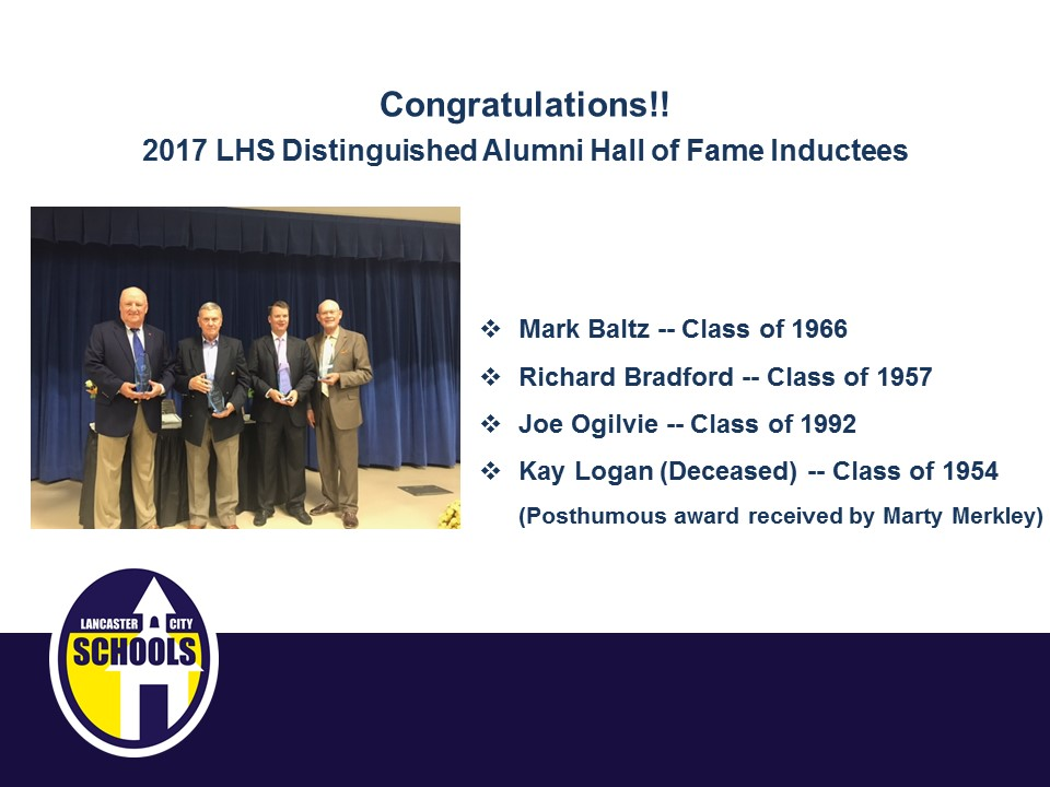 2017 LCS Hall of Fame Inductees